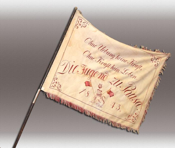 Die Vermutlich älteste Sportvereinsfahne Deutschlands von 1843