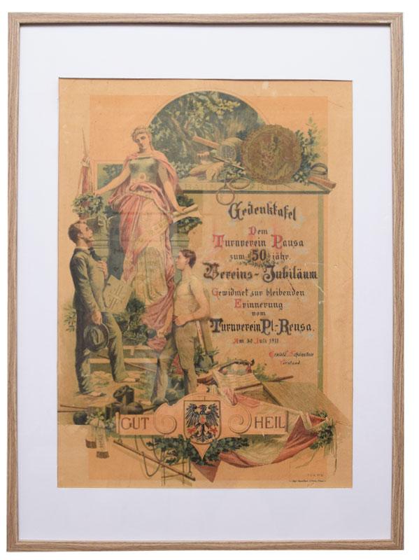 Gedenktafel zum 50 jährigen Gründungsjubiläum 1911